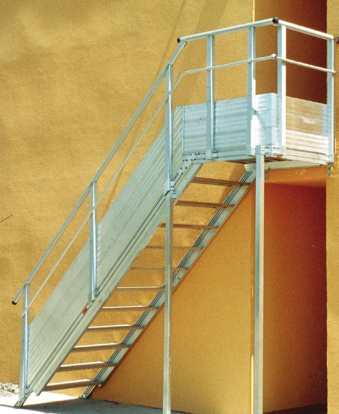 Escaliers Industriels Passerelles Alu Et Passerelle Metallique