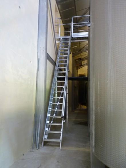 Escaliers De Meunier Larges Passerelles Alu Et Passerelle