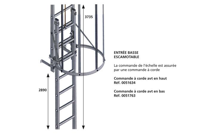 Echelles crinoline passerelles alu et passerelle for Dimension portillon standard